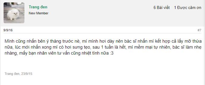 Bạn gái chia sẻ về ca thực hiện nhấn mí của mình tại Dr.Hải Lê